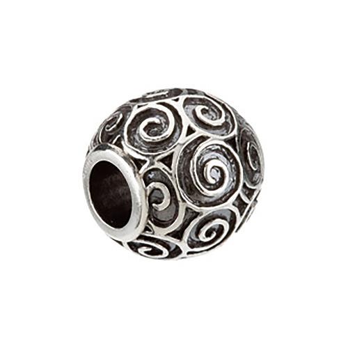 Kera Round Scroll Bead