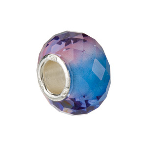 Kera Blue & Purple Faceted Glass Bead