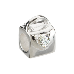 Kera Purse Bead With Cubic Zirconia