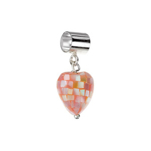 Kera Pink Mother Of Pearl Heart Dangle