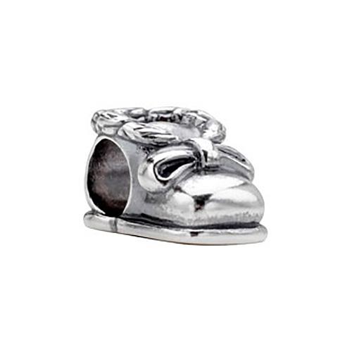 Sterling Silver Kera Baby Shoe Bead