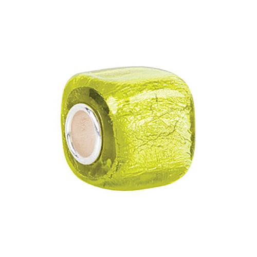 Kera Yellow Square Glass Bead