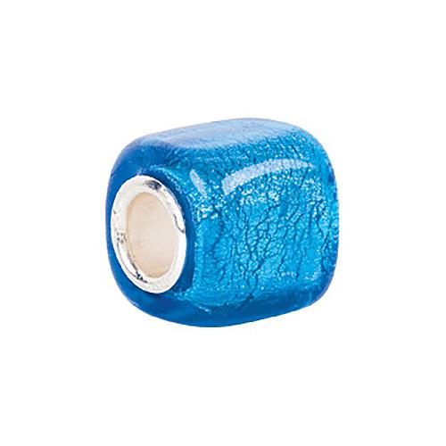 Kera Turquoise Square Glass Bead