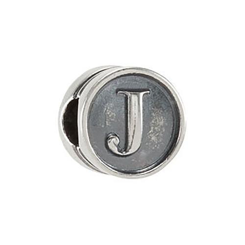 Kera Alphabet J Cylinder Bead