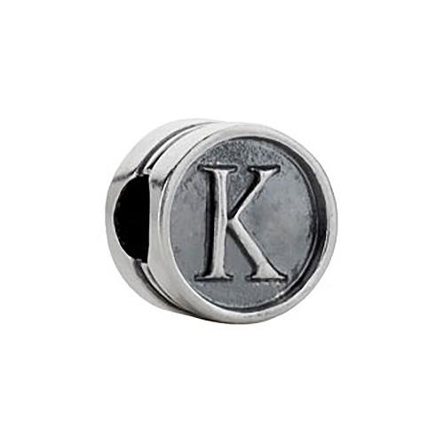 Kera Alphabet K Cylinder Bead