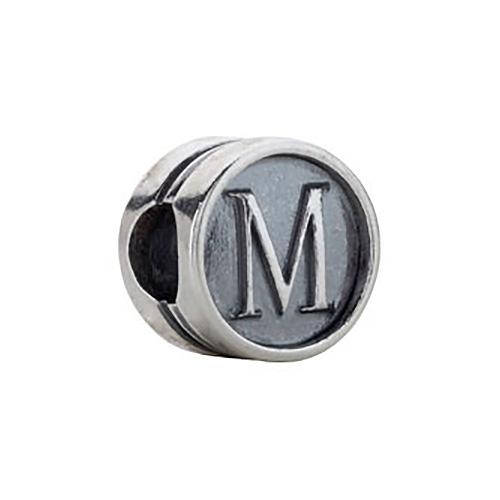 Kera Alphabet M Cylinder Bead