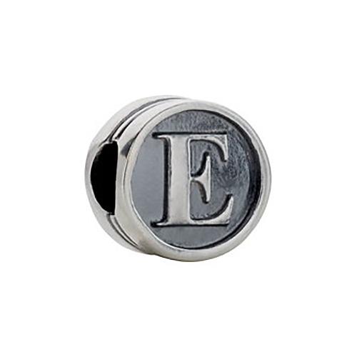 Kera Alphabet E Cylinder Bead
