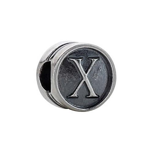 Kera Alphabet X Cylinder  Bead