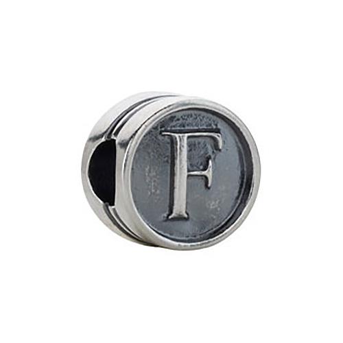 Kera Alphabet F Cylinder Bead