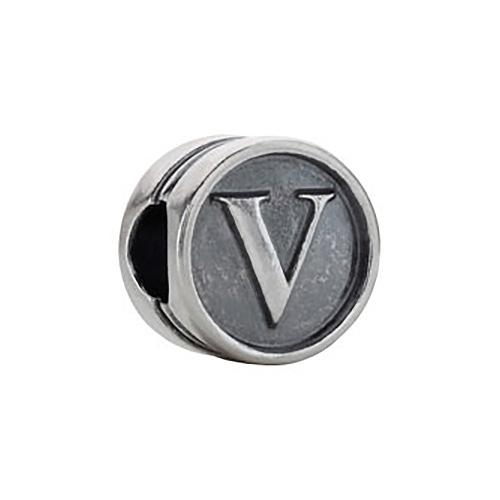 Kera Alphabet V Cylinder Bead