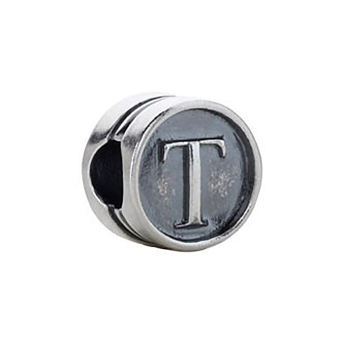 Kera Alphabet T Cylinder Bead