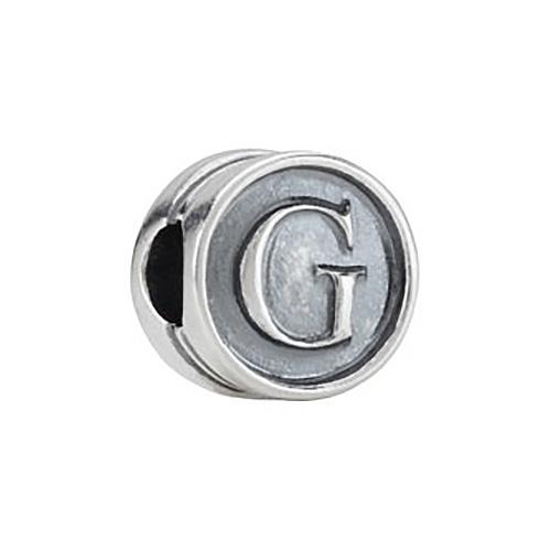 Kera Alphabet G Cylinder  Bead