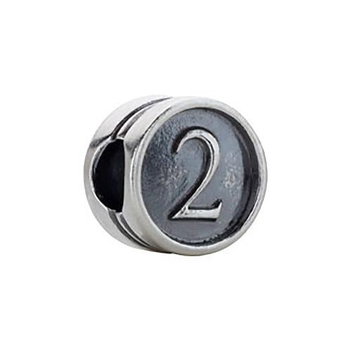 Kera Numeral 2 Cylinder Bead