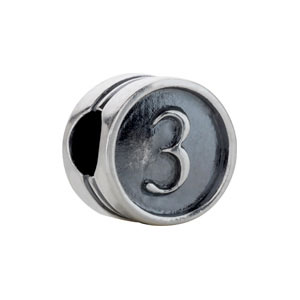 Kera Numeral 4 Cylinder Bead