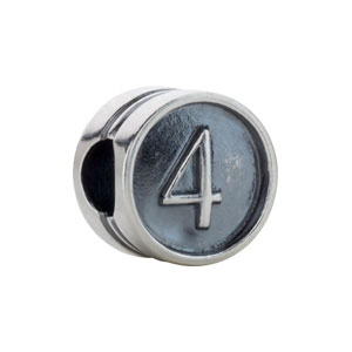 Kera Numeral 3 Cylinder Bead