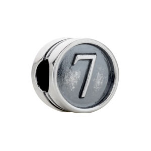Kera Numeral 7 Cylinder Bead
