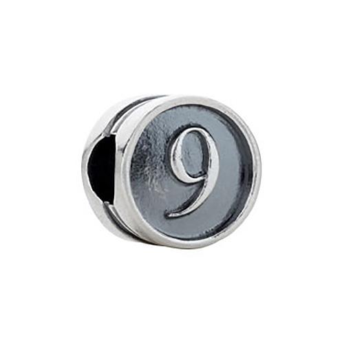 Kera Numeral 9 Cylinder Bead
