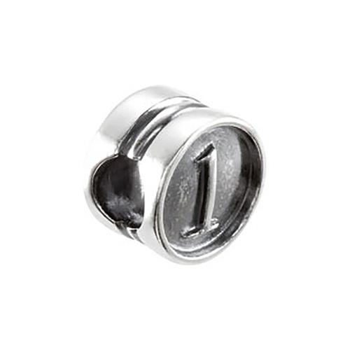 Kera Numeral 1 Cylinder Bead