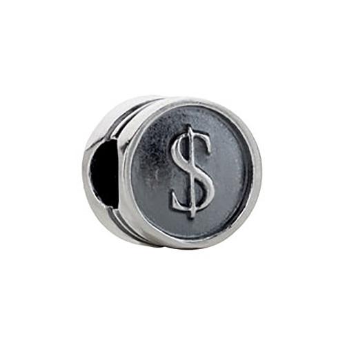 Kera Dollar Sign Cylinder Bead