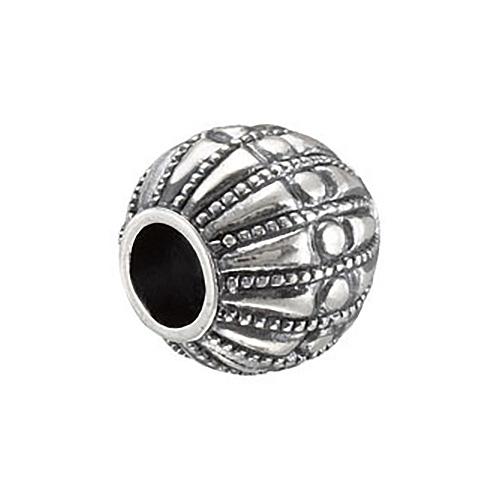 Kera Round Vintage Bead