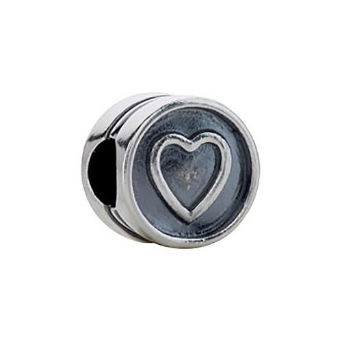 Kera Heart Cylinder Bead