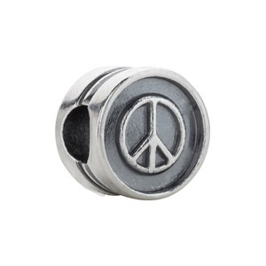 Kera Peace Sign Cylinder Bead