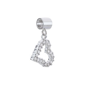 Kera Open Heart Dangle Bead with Crystals