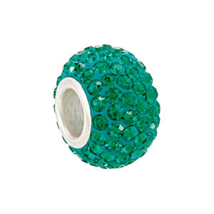 Kera Bead With Pavé Emerald Crystals
