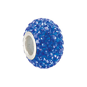 Kera Bead With Pavé Sapphire Crystals