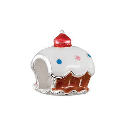 Kera White Cupcake Enamel Bead