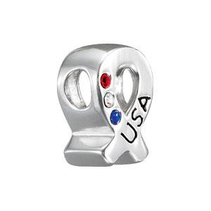 Kera USA Ribbon Bead with Crystals