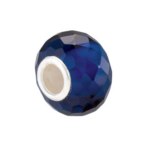 Kera Sapphire Faceted Glass Bead