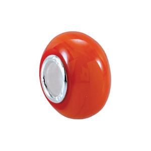Kera Orange Glass Bead
