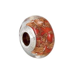Kera Bella Viaggio Orange Glass Bead With Aventurina
