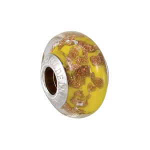 Kera Bella Viaggio Yellow Glass Bead With Aventurina