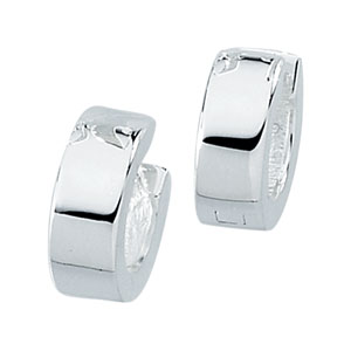 Sterling Silver 1/2in Hinged Earrings