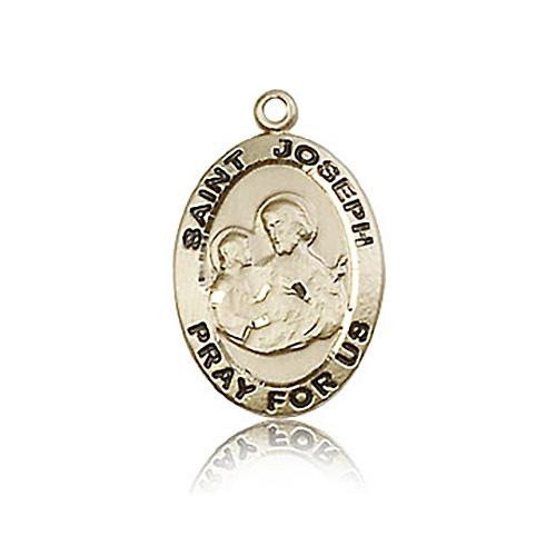 14kt Yellow Gold 3/4in St Joseph Medal