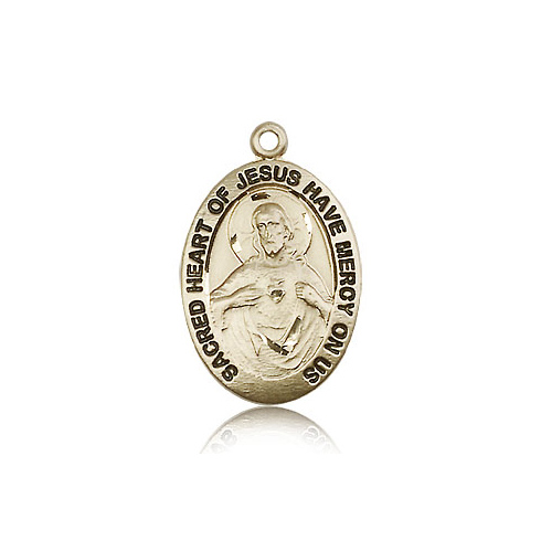 14kt Yellow Gold 1in Scapular Medal