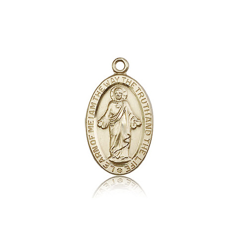 14kt Yellow Gold 7/8in Scapular Medal