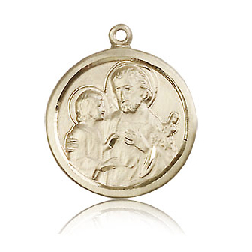 14kt Yellow Gold 7/8in St Joseph Medal