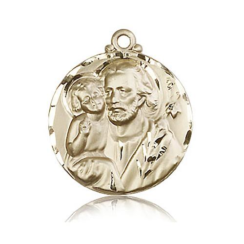 14kt Yellow Gold 1 1/8in St Joseph Medal