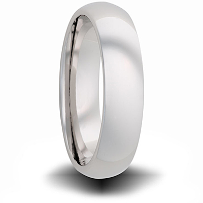 Cobalt 4mm Domed Wedding Band