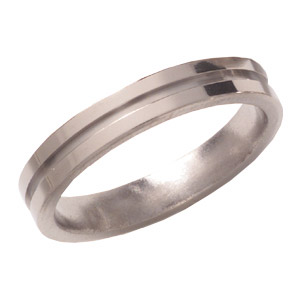 4mm Titanium Band with Groove