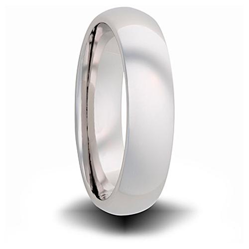 Titanium 4mm Domed Ring