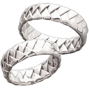 6mm Handwoven Platinum Band