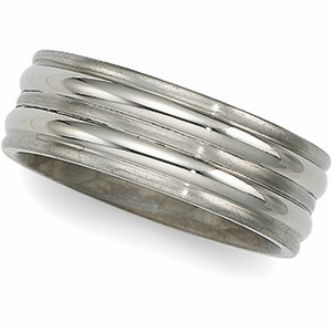 7mm Titanium Band with Shallow Grooves