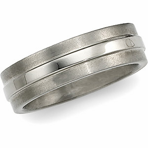 6mm Titanium Band with Raised Center