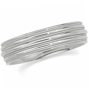 6mm Titanium Band with Quad Milgrain