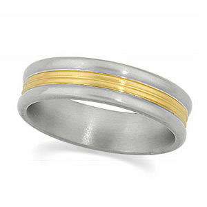 6mm Titanium Band with 18K Gold Inlay