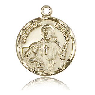 14kt Yellow Gold 7/8in St Camillus Medal